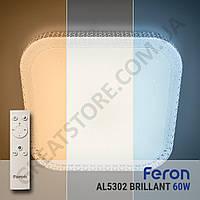 Потолочный светодиодный светильник Feron AL5302 BRILLANT 60W с пультом ДУ