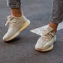 Жіночі кросівки Adidas Yeezy Boost 350 V2 Citrin All reflective, фото 2
