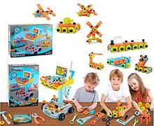 Дитячий ігровий набір інструментів у візку на 94 деталі c викруткою, молотком і пилкою