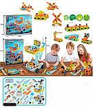 Детский игровой набор инструментов в тележке на 94 детали c отверткой, молотком и пилой, фото 2