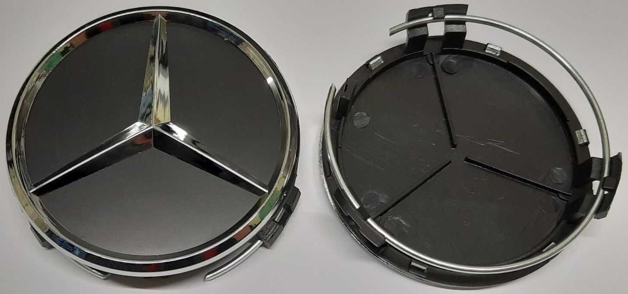 Ковпачок MERCEDES (75mm/70mm) чорний