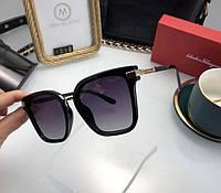 Женские брендовые солнцезащитные очки SF (1219) черные