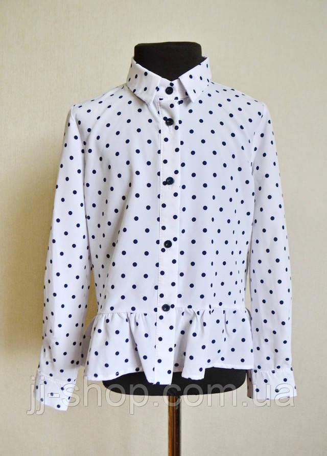 Детская школьная блузка для девочек
