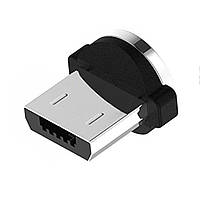 Адаптер Коннектор Наконечник на магнитный кабель Micro USB Круглый 360
