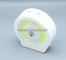 Портативный Фонарь - Выключатель WD032/3хAAA круглый с магнитным креплением на липучке
