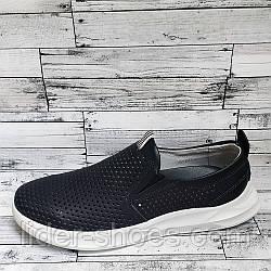 Мужские летние туфли темно синего цвета
