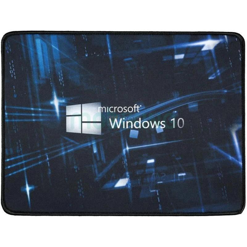 Компьютерный игровой коврик для мышки Logilily с принтом Microsoft Windows 10 Черный