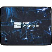 Компьютерный игровой коврик для мышки Logilily с принтом Microsoft Windows 10 Черный, фото 1