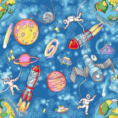 Детские коврики с ворсом Космос