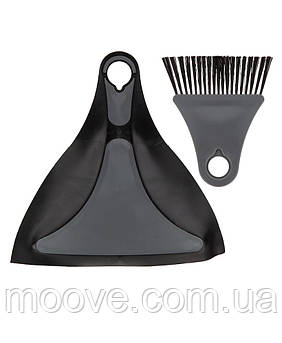 Summit Pop Flexi Dustpan And Brush Black
