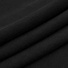 Трикотажное полотно Футер трехнитка на флисе, черный, с начесом, купить оптом, Украина
