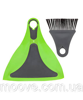Summit Pop Flexi Dustpan And Brush Lime