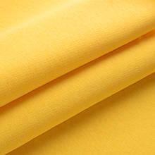 Трикотажное полотно Футер трехнитка на флисе, желтый, с начесом, купить оптом, Украина