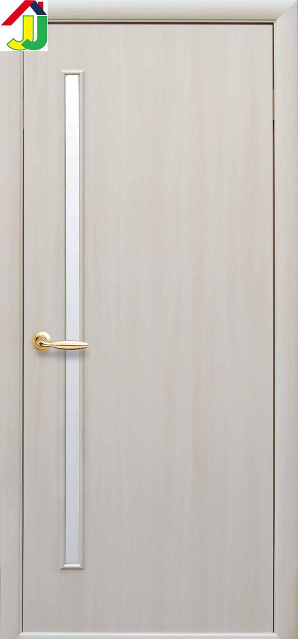 Дверь межкомнатная Новый стиль Глория Экошпон квадра Дуб жемчужный