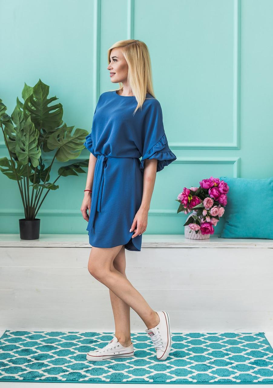 Женское летнее платье джинс