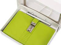 Кожаный ежедневник с кодовым замком CAGIE Biz 96 Зеленый