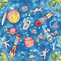 Детский ковролин Космос