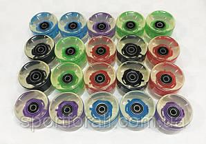 Колеса для пенниборда (скейтборда) светящиеся с подшипником 608-2RS 4шт НК-295