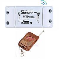 Sonoff RF Радио (433 МГц) + WIFI Беспроводной Выключатель Для Умного Дома c таймером ANDROID, iOS + Коричневый пульт с антенной