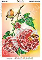 Схема для частичной зашивки бисером - Цветочный аромат