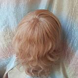 Парик из натуральных волос удлиненный каскад медовый микс ANGELIKA- 27/24В, фото 8