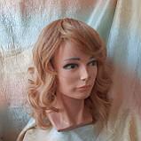 Парик из натуральных волос удлиненный каскад медовый микс ANGELIKA- 27/24В, фото 5