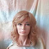 Парик из натуральных волос удлиненный каскад медовый микс ANGELIKA- 27/24В, фото 2