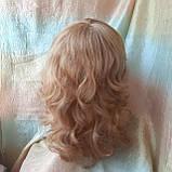 Парик из натуральных волос удлиненный каскад медовый микс ANGELIKA- 27/24В, фото 3
