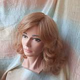 Парик из натуральных волос удлиненный каскад медовый микс ANGELIKA- 27/24В, фото 6