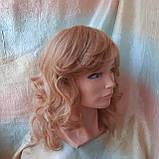Парик из натуральных волос удлиненный каскад медовый микс ANGELIKA- 27/24В, фото 7