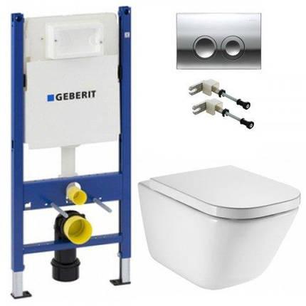 Инсталляция Geberit Duofix с унитазом Roca GAP Clean Rim, фото 2