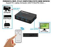 Разветвитель HDMI Switch splitter 3 в 1 сплиттер свитч 3 входа,1 выход