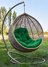 """Яркое подвесное кресло """"Веста"""" (бежевый + зеленый)"""