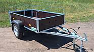 Оцинкованный одноосный бортовой прицеп Кияшко для легкового авто 211PB1102F, фото 5