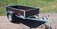 Оцинкованный одноосный бортовой прицеп Кияшко для легкового авто 211PB1102F, фото 7