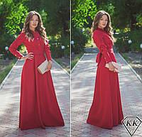 Красное платье 15874 в пол