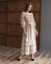 Платье вышивка лен Роксолана, фото 3