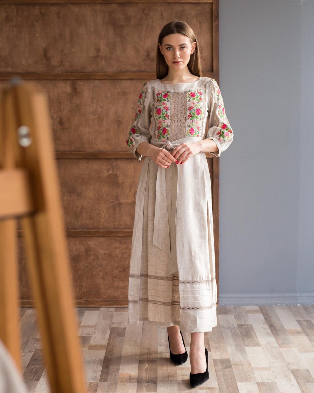Платье вышивка лен Роксолана