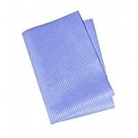 Перфорированная салфетка для сушки кузова автомобиля синяя