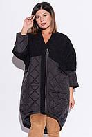 Пальто из комбинированных материалов (48-52)