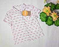 Рубашка с коротким рукавом на девочку ТМ Бемби