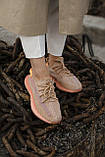 🔥 Кроссовки мужские спортивные повседневные Adidas Yeezy V2 Clay (адидас изи буст клэй коричневые), фото 9