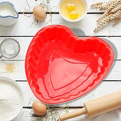 Силіконова форма для випічки Серце 21 см