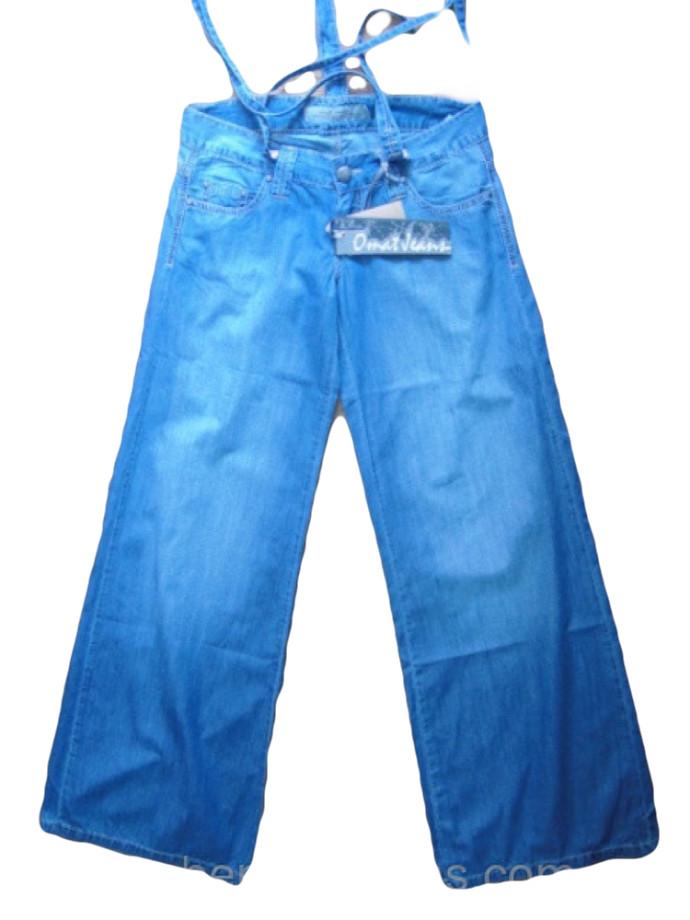 d016765f096 Джинсы женские-трубы ОМАТ светло-синего цвета ОМ 9922 - купить по ...