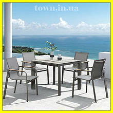 Обеденный стекляный стол RONA 90х90х75.Стол для улицы,для террасы,для дома,для кухни