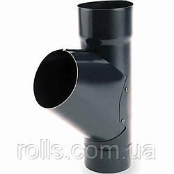 Тройник 60° Galeco Stal 120/90 трійник 60° труби водостічної SS090-_-TR060-D