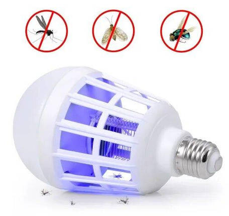 Светодиодная лампа ночник-убийца для комаров и мошек, фото 2