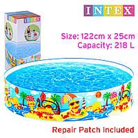 """Каркасний дитячий басейн Intex """"Качиний риф"""" 122х25 см круглий 218 л від 3-х років"""