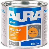 Емаль алкідна для ПФ-266 AURA жовто-коричнева 2.8 кг