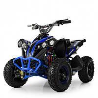Квадроцикл HB-EATV1000Q-4ST V2 для детей от 6 лет, подростков и взрослых до 65 кг синий